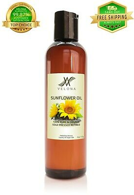 Sunflower Oil 4 oz REFINED NATURAL CARRIER Cold Pressed PURE VELONA Cooking Oils & Serving Oils
