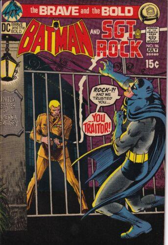 DC Comics Batman & SGT Rock - July 1970 No. 96 The Brave & the Bold