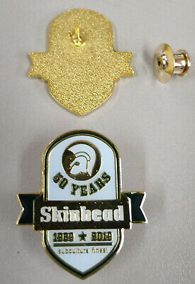 50 years subculture finest 1969 - 2019 Skinhead pin Metallanstecker