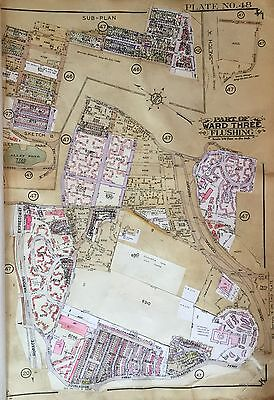 ORIG 1927 BELCHER HYDE ATLAS MAP DOUGLASTON - GOLF COURSE ALLEY POND QUEENS NY