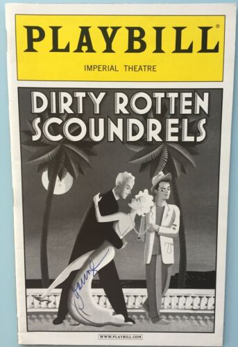 Joanna Gleason (Only)  Signed Playbill Dirty Rotten Scoundrels John Lithgow 2006