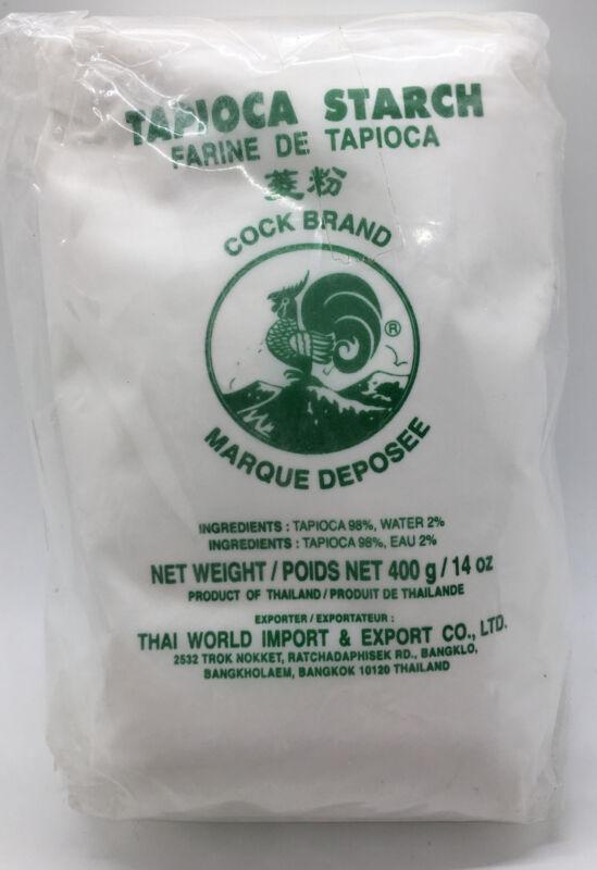 Tapioca Starch ~ Cock Brand ~ Thailand ~ 14oz (400g) ~Sealed