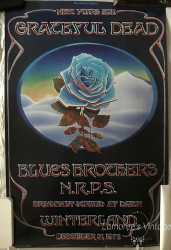 Grateful Dead 1978 Winterland New Years Eve Concert Blues Brothers  POSTER
