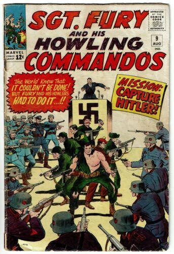 SGT FURY HOWLING COMMANDOS No 9, Marvel, G/VG