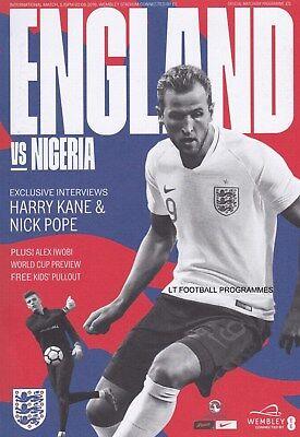 * 2018 - ENGLAND v NIGERIA (2nd June 2018 - INTERNATIONAL FRIENDLY AT WEMBLEY) *