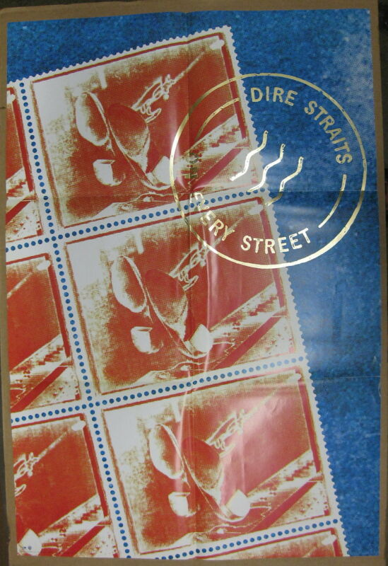 DIRE STRAITS On Every Street 1991 US PROMO Only POSTER Mark Knoplfer