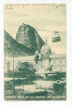 Rio de Janeiro Funicular—Antique BRAZIL Caminho Abreo—Pao de Assucar—Stamp 1910s