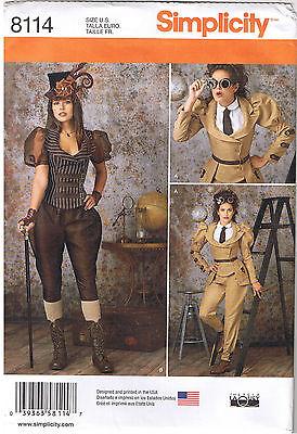 Steampunk Jacket Jodhpur Pants Knickers Costume Sewing Pattern Sz 6 8 10 12 14