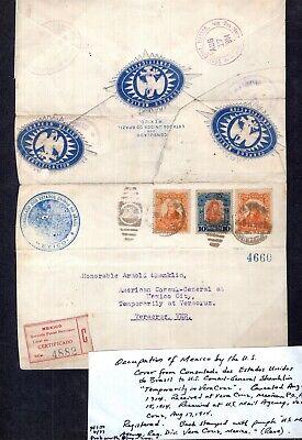 Kenr2: Mexico 1914 Occupation of Vera Cruz Registered Cover