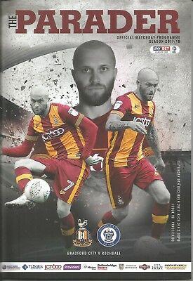 2017/18 League Bradford City v Rochdale