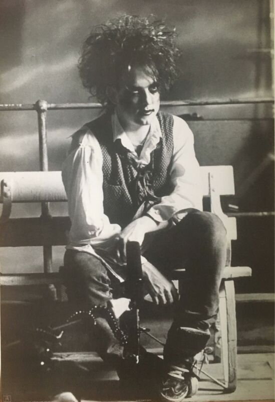 The Cure Robert Smith Black & White Original 1992 UK Import Poster 24 x 35
