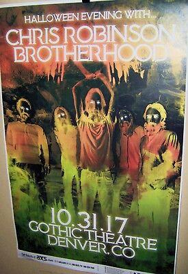 CHRIS ROBINSON BROTHERHOOD in Concert Show Poster Denver Co Halloween Evening - Halloween Shows Denver
