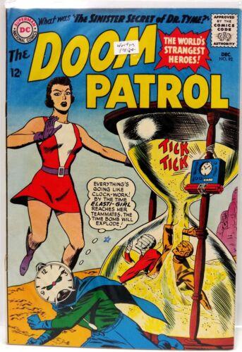 #92  DOOM PATROL 1960s DC Comic Book- F/VF  (DP-92)