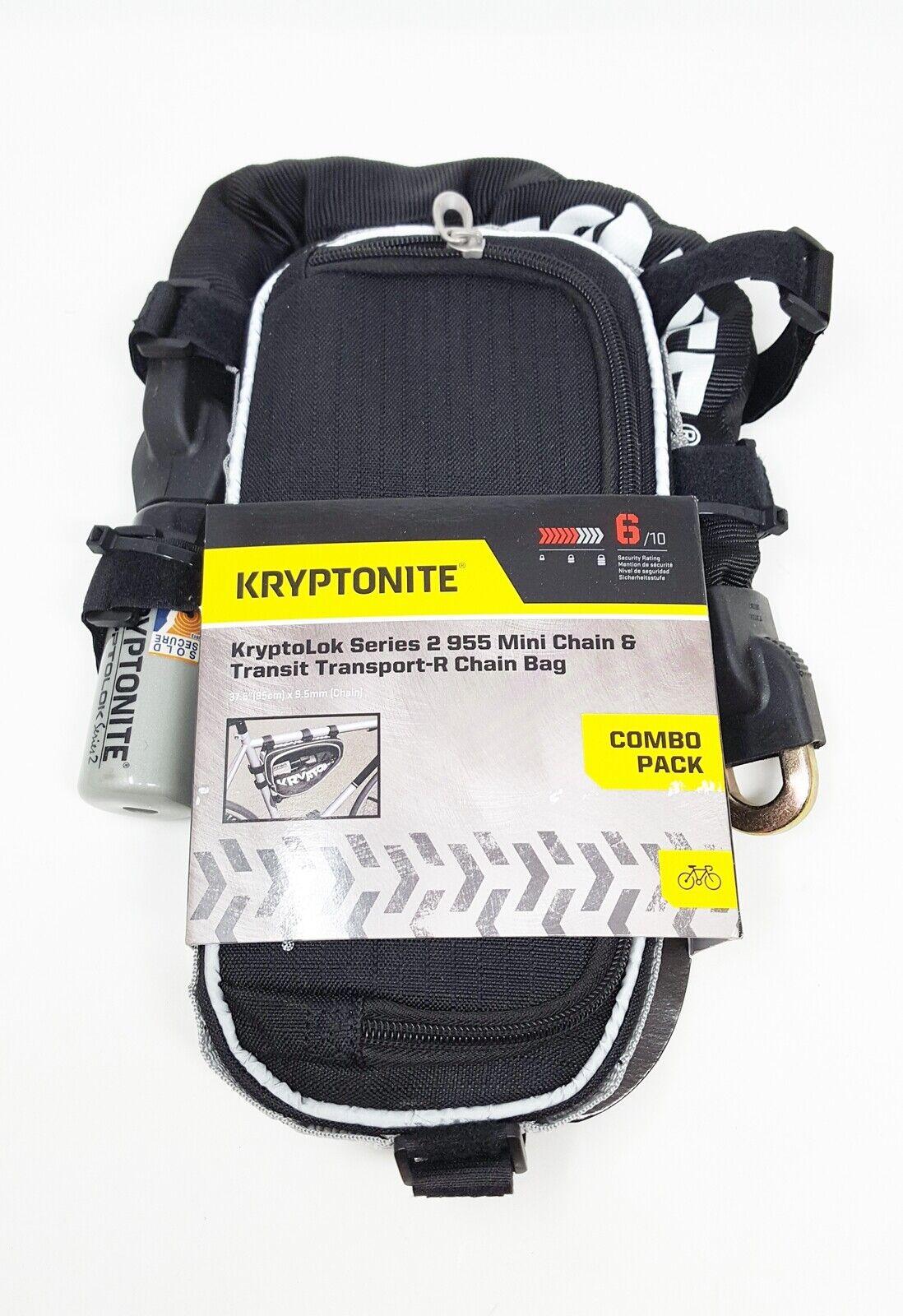 Kryptonite KryptoLok Series-2 955 Mini Integrated Chain Bicy