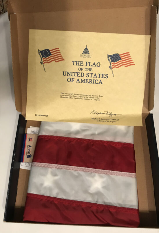 Official Flag Flown Over The US Capitol At The Request Of Chris Van Hollen