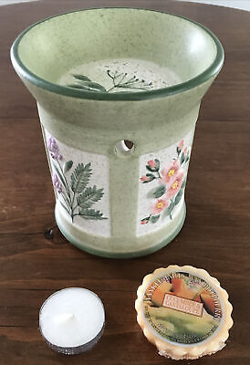 VGC Retired Yankee Candle Pastel Flowers Tart Wax Warmer Burner Tealight Holder
