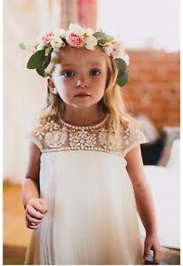 7528bb1107 Marchesa Neiman Marcus Target Designer Beaded Dress Girls Large Flower Girl  Boho