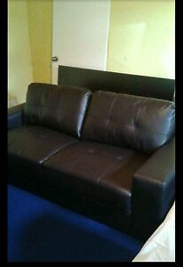 costa brown leather bonded sofa and chair