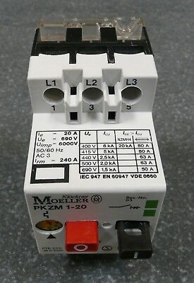 Klockner Moeller Pkzm1-20 Motor Protector