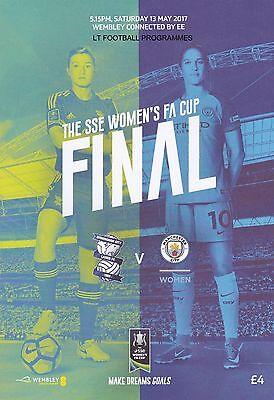 * 2017 WOMENS FA CUP FINAL PROGRAMME - BIRMINGHAM CITY v MANCHESTER CITY *