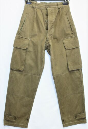 Genuine Vintage Indochina French Army M47 HBT Cargo Pants /Trousers W27 L41