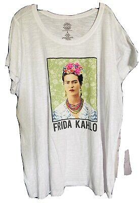 Torrid FRIDA KAHLO Women's Girls Plus Size T-Shirt Hippie PUNK BOHO NEW 5 5X
