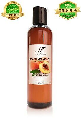 Peach Kernel Oil 4 oz ORGANIC&NATURAL Cold Pressed PREMIUM 100% PURE VELONA 100% Pure Organic Peach