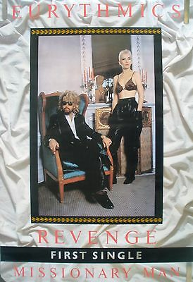 RARE EURYTHMICS MISSIONARY MAN 1986 VINTAGE MUSIC RECORD STORE PROMO POSTER