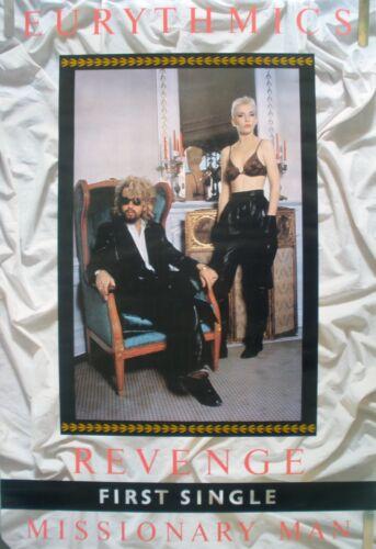 RARE EURYTHMICS MISSIONARY MAN 1986 VINTAGE MUSIC RECORD STORE PROMO POSTER