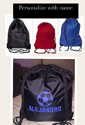 Personalized String Bag  Great gift Idea Any name Soccer Baseball Football Bag](Personalized Soccer Bags)