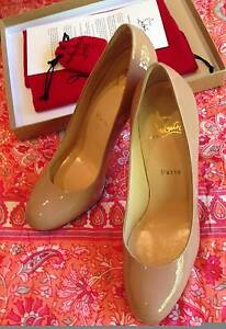 Christian Louboutin NEW - New Simple Pump 120 - Nude Patent Cal Kooyong Stonnington Area Preview