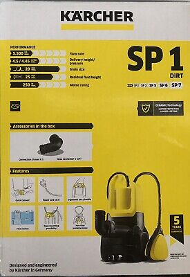 Karcher SP1 Dirt Submersible Water Pump - Brand New & Sealed