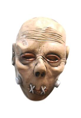 Halloween Beige Colored Creepy Monster Latex Mask Sewn Lips Serial Killer - Sewn Lips Halloween