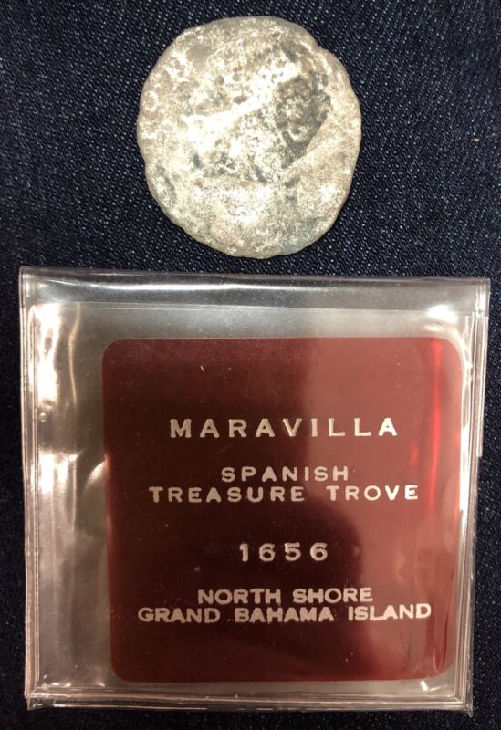 1656 Maravilla Spanish Ship Wreck Treasure Coin 8 Reals