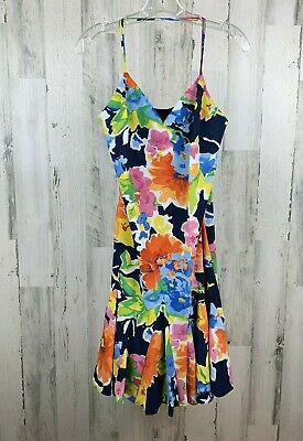 LAUREN Ralph Lauren Women's Floral Dress Navy Size 8