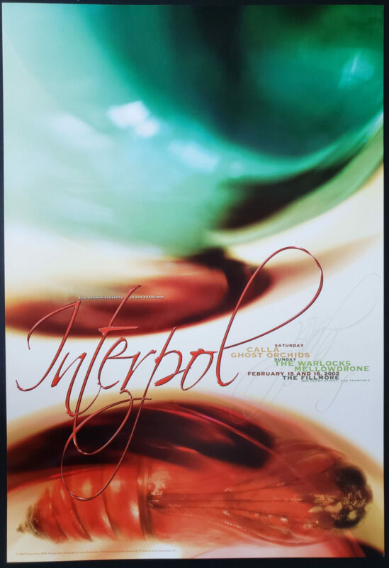 Interpol Concert Poster 2003 F-555 Fillmore