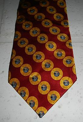 Jersey Boys Musical Red w/ Gold Records 100% Silk Mens Novelty Necktie Tie - Boys Novelty Ties