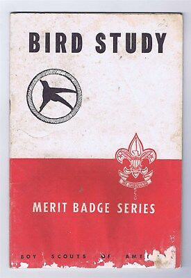 R&W Merit Badge Book Bird Study Copyright 1938 8,000 Issued 9/49 Printing 601095