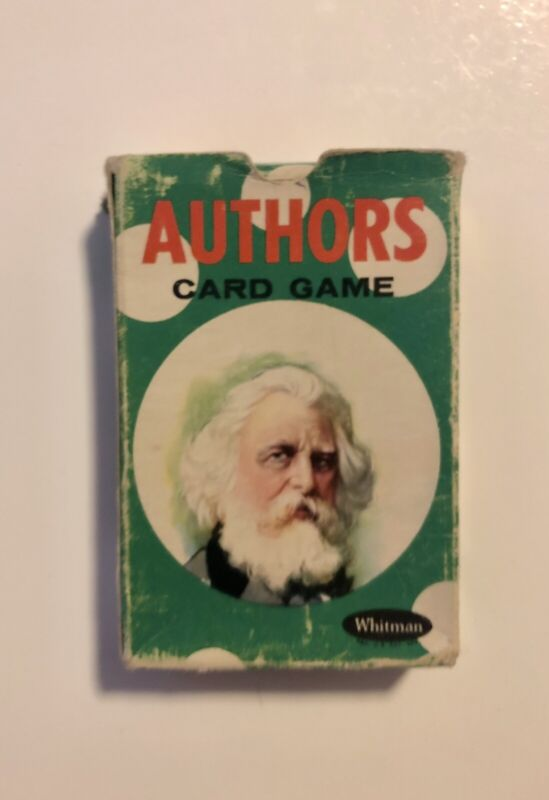 Vintage 1950's Authors Card Game Whitman No. 4110 Complete Deck Of 44