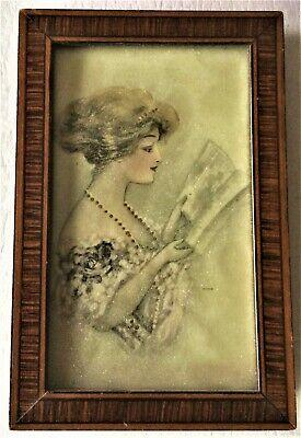 precious vintage mini 3 x 4 1/2 wood frame cadre 8 x 11 Rahmen ca 1910 + glass