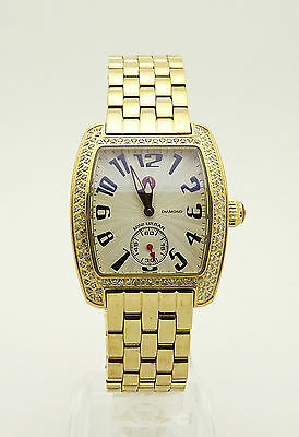 Michele Mini Urban MW02A01 116 Diamond Stainless Steel Gold Plated Ladies Watch