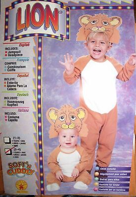 New Soft N Cuddly Child Infant Lion Halloween Costume Size 1-2 Years by Rubies - Lion Halloween Costumes
