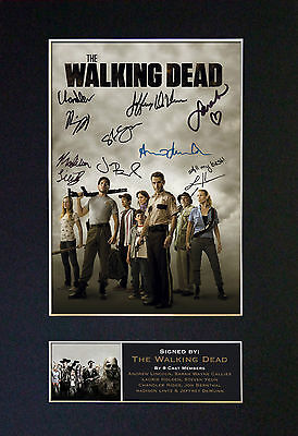 THE WALKING DEAD Top Quality Signed Mounted Autograph Photo Print (A4) 330