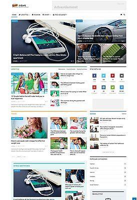 Responsive News Website   Run On Autopilot