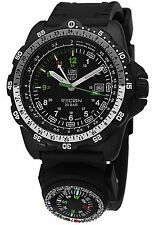 New Luminox Recon NAV SPC Compass GMT Black Rubber Men's Watch A.8831.KM NIB