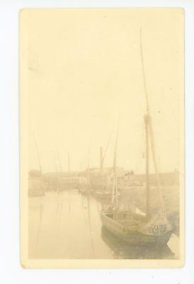 Bombay Harbor (Bombay India RPPC Harbor Boats—Mumbai Antique Photo 1910s)