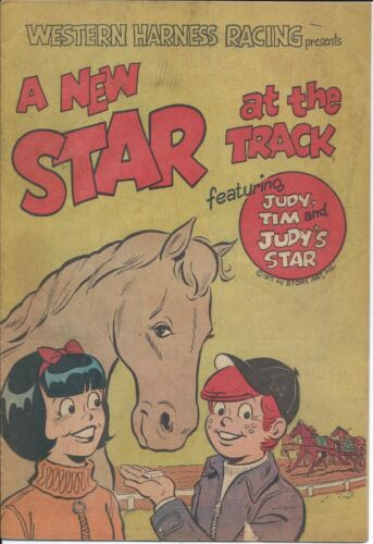 A NEW STAR AT THE TRACK 1971 RARE GIVEAWAY PROMO VG+ WESTERN HARNESS RACING