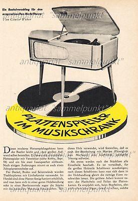 Musikschrank Plattenspielergehäuse im Stil der 50er Jahre - Original von 1956