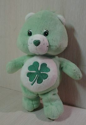 "2002 Four Leaf Clover Care Bear Plush 9"" stuffed animal"