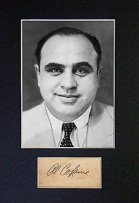 AL CAPONE Signed Mounted Autograph Photo Print (A4) No574